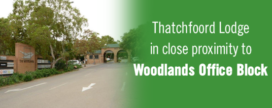 Thatchfoord Lodge in close to proximity to the Woodlands office block